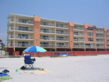 My Indian Shores Family Resort Vacation Condo Rental Directly on the Beach
